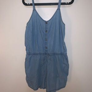 Old Navy Button-Front Sleeveless Romper